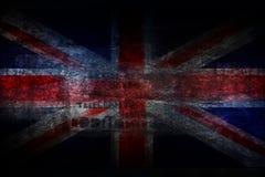 Grunge UK flag on stone texture background Stock Photos