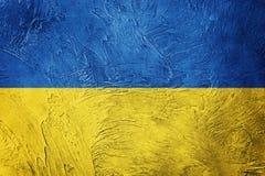 grunge Ukraine bandery Ukraina flaga z grunge teksturą Zdjęcie Stock