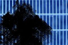 Grunge Ultra błękitnej stali zmielona kratownica Stali nierdzewnej tekstura, tło dla strony internetowej lub urządzenia przenośne Obrazy Stock
