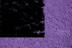 Grunge Ultra purple Plaster concrete texture, stone surface, rock cracked background for postcard.  royalty free stock image