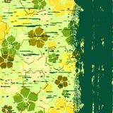 Grunge uma bandeira com um teste padrão de flor Fotografia de Stock Royalty Free