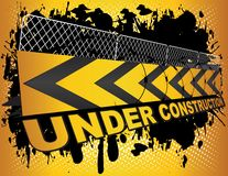 Grunge Under Construction Royalty Free Stock Photo