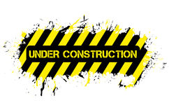 Grunge under construction Stock Photos