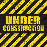 Grunge under construction background Stock Photos