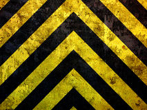 Grunge under construction stripes Royalty Free Stock Image