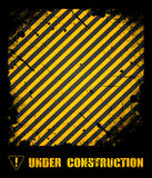 Grunge under construction texture Royalty Free Stock Photos