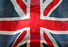 Grunge Union Jack Fotos de Stock Royalty Free