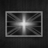Grunge union jack badge Royalty Free Stock Images