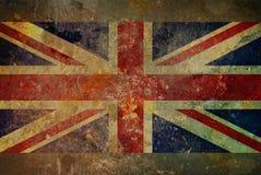 Grunge Union Jack Flag Graphic. Illustration of a grunge style British flag - Union Jack on rough stone surface Stock Images