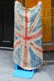 Grunge Union Jack. Grunge style Union Jack British flag made from old sack Royalty Free Stock Image