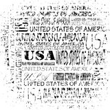 Grunge United States of America texture. United States of America grunge vector text box illustration Stock Photography