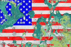 Grunge United States Flag Royalty Free Stock Image