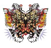 Grunge unusual colorful jaguar butterfly Stock Photo