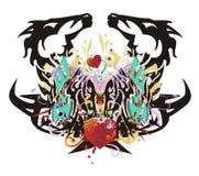 Grunge unusual eagle-horse symbol Stock Photography