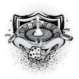 Grunge Uprawia hazard osłonę Obrazy Stock