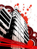 Grunge urban abstraction. With spots and circles. Vector illustration Stock Image