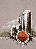 Grunge urban basketball background Stock Photo