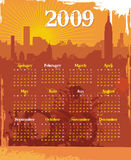 Grunge urban calendar 2009 Stock Photography