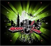 Grunge Urban City Background Stock Image