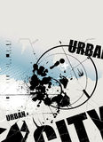Grunge urban city background Stock Image
