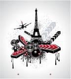 Grunge Urban Disco Flyer Background Stock Images