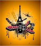 Grunge Urban Disco Flyer Background Stock Image