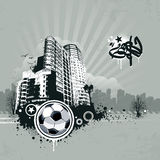 Grunge urban soccer background Royalty Free Stock Photo