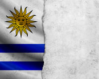 Grunge Uruguay flag Royalty Free Stock Photography