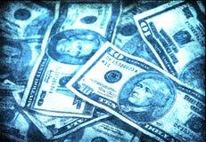 Grunge US Bills Royalty Free Stock Photography