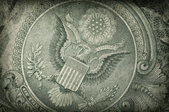 Grunge US Dollar Detail Royalty Free Stock Images
