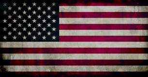 Grunge US flag. United States of America's flag with weathered effect Royalty Free Stock Images