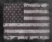 Grunge US Flag Stock Photography