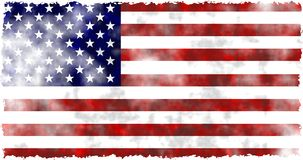 Grunge usa. A run down worn out aged and grunge looking flag of the USA Stock Photo