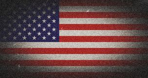 Grunge USA flag. Grunge image of USA flag Stock Photos