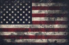 Grunge USA Flag. Cracked wall Stock Photography