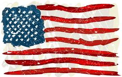 Grunge USA Flag. A grunge painted background of the USA flag Stock Photos