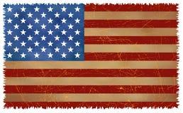 Grunge USA Flag. Grunge Style USA Flag (Vector Stock Image