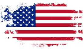 Grunge USA flag Stock Image