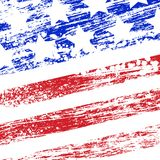 Grunge USA flag Stock Photo
