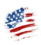 Grunge USA flag. Grunge American USA flag - splattered star and stripes Royalty Free Stock Photo