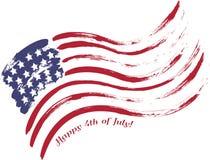Grunge USA flag. Grunge American USA flag - splattered star and stripes Stock Photos