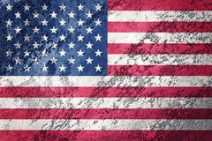 Grunge USA flag. American flag with grunge texture. Royalty Free Stock Photo