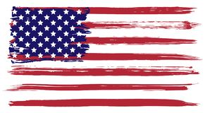 Grunge USA flag. American flag with grunge texture. Vector illustration vector illustration