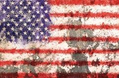 Grunge USA flag background. Colours Stock Photo