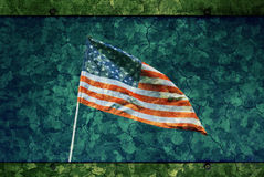 Grunge USA Flag Background Royalty Free Stock Photos