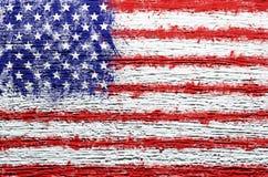 Grunge USA flag background Royalty Free Stock Photo