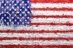 Grunge USA flag background. On wall Royalty Free Stock Photo