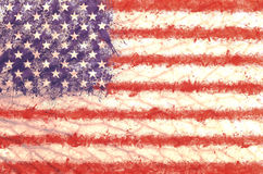 Grunge USA flag background. On wall Royalty Free Stock Photography