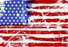 Grunge USA flag, distressed vector illustration