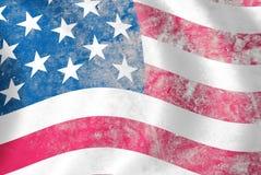 Grunge USA flag Stock Photos